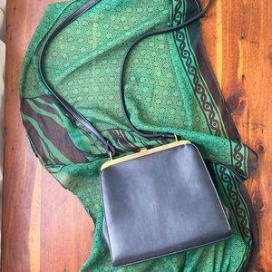 Amanda Smith Vintage Black Vegan Leather Purse